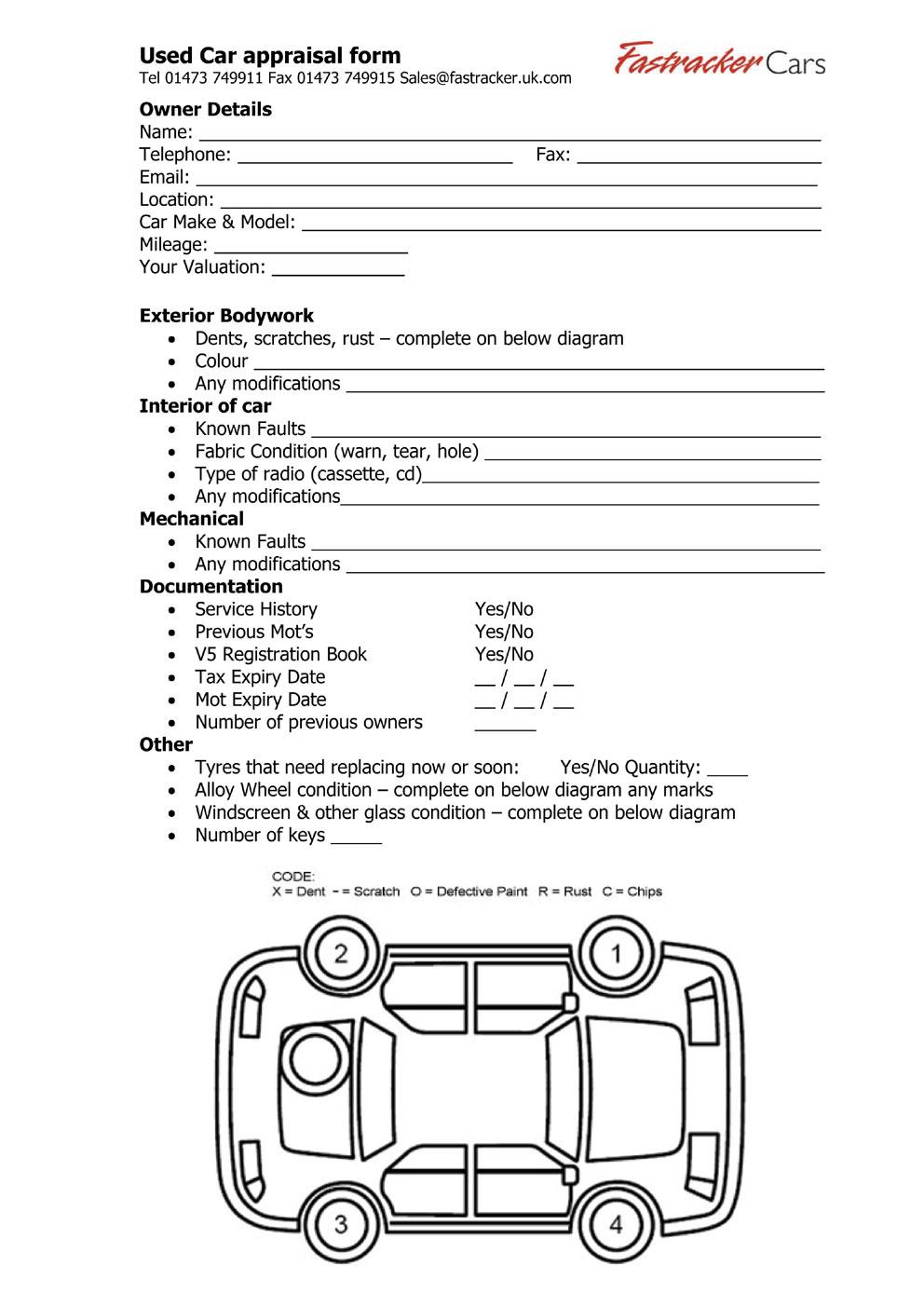 vehicle appraisal form - geminifm.tk